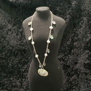 Quartz Necklace & Earrings Set